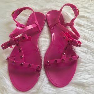 Kate Spade Savannah Studded Bow Jelly Sandals